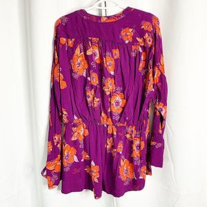 Free People Tops - free people tuscan dreams tunic plum floral L